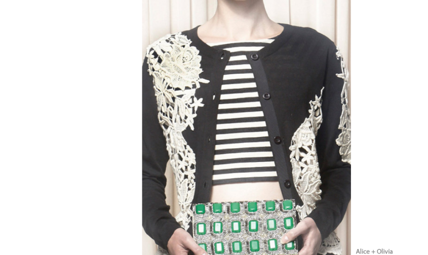 Decorialab Knit and Fabric Mixed Alice+Olivia